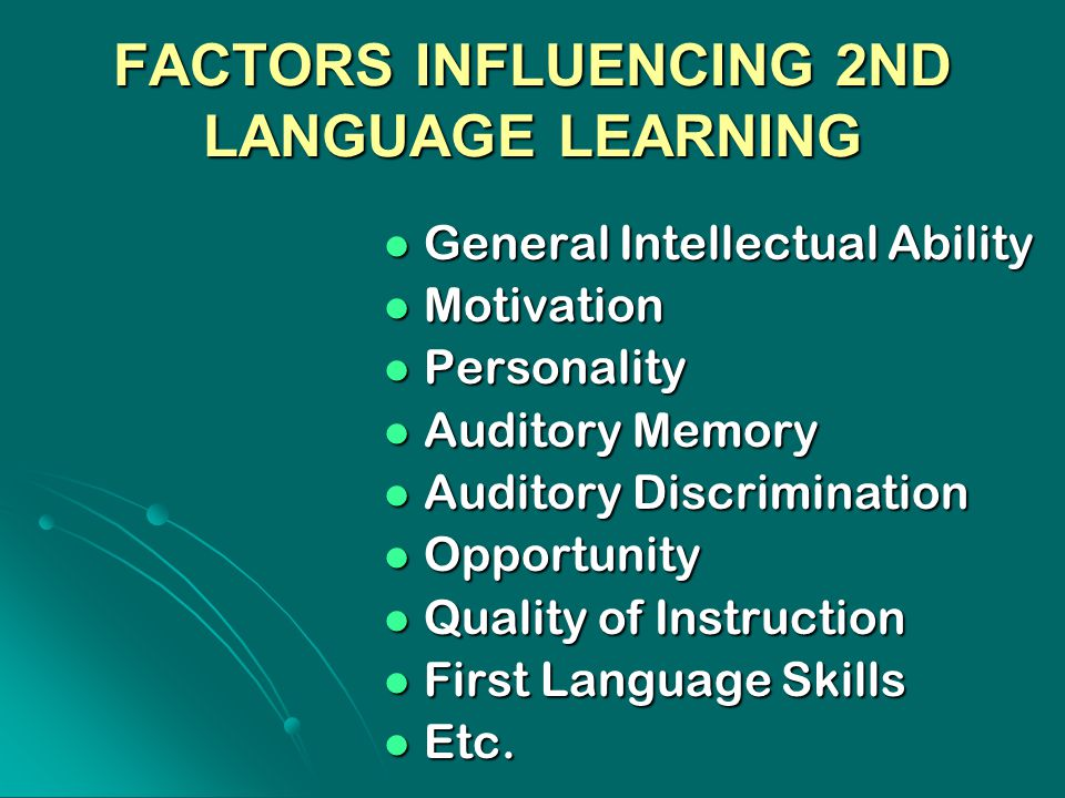 factors affecting learning Factors affecting learning 1 factors affecting learning presented by khurram rafi 2 definition of learning learning is a systematic relatively permanent change in behavior that occurs through experience 3.