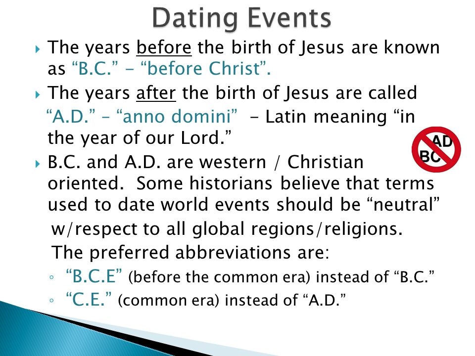 Dating events