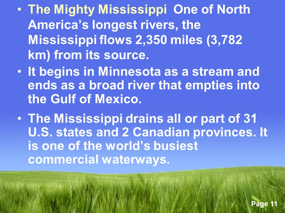 Chapter Chapter The Lower States Of The United States - Two longest rivers in the united states