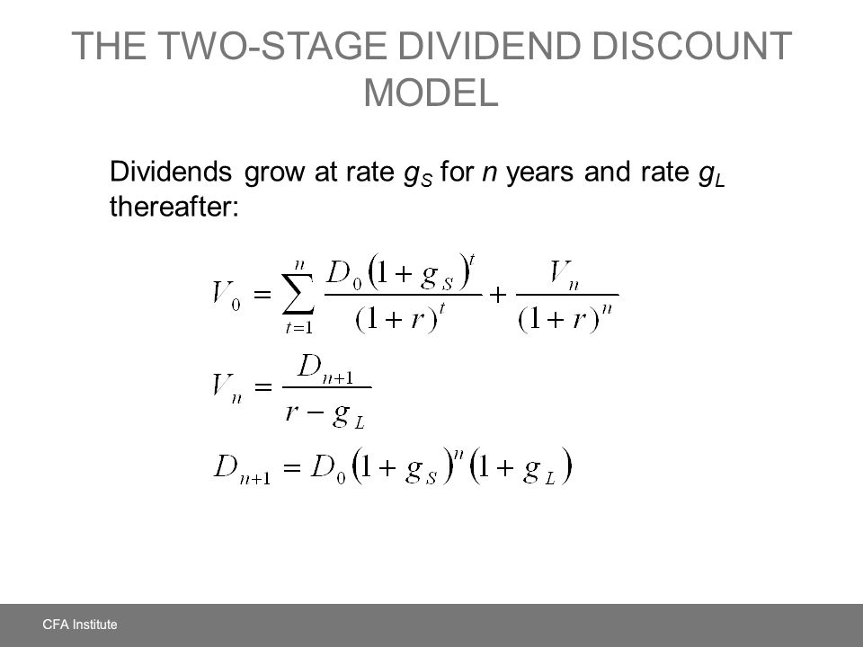 two stage dividend discount model Cfa level 1 - the dividend discount model (ddm) learn the relationship between dividends and security values provides formulas for various dividend discount models.