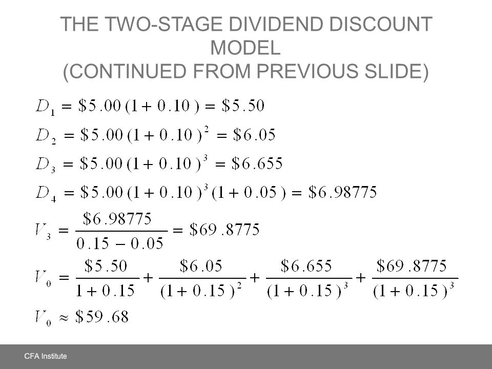 two stage dividend discount model The constant growth dividend discount model (ddm) is said to be the simplest   at a constant growth rate) c) two-stage growth model (a period of fast growth.