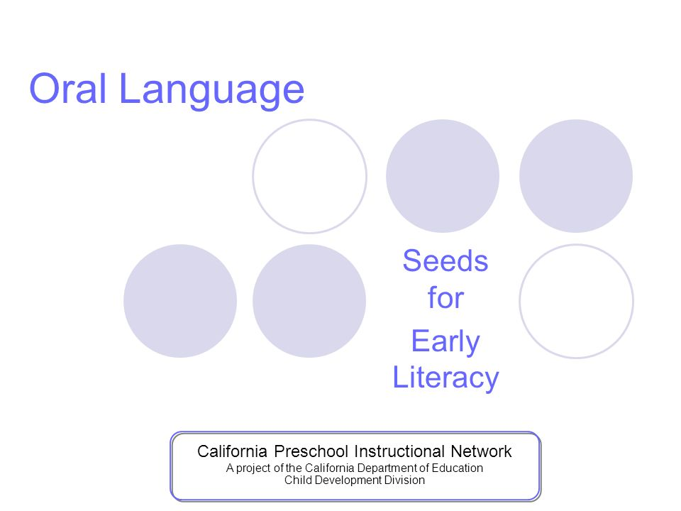 Seeds for Early Literacy