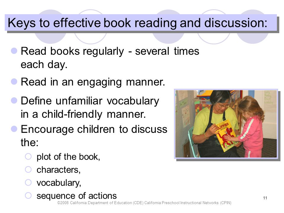 Keys to effective book reading and discussion: