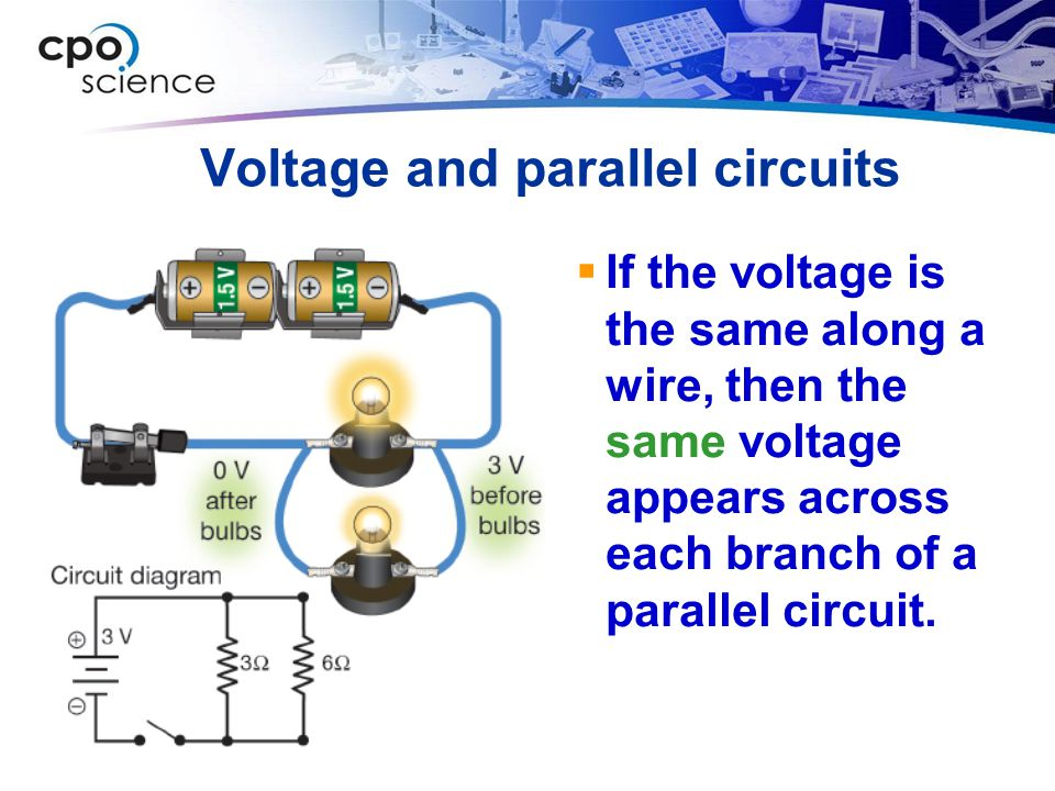 Voltage and parallel circuits