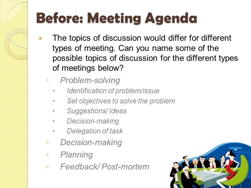 meetings before  during  u0026 after