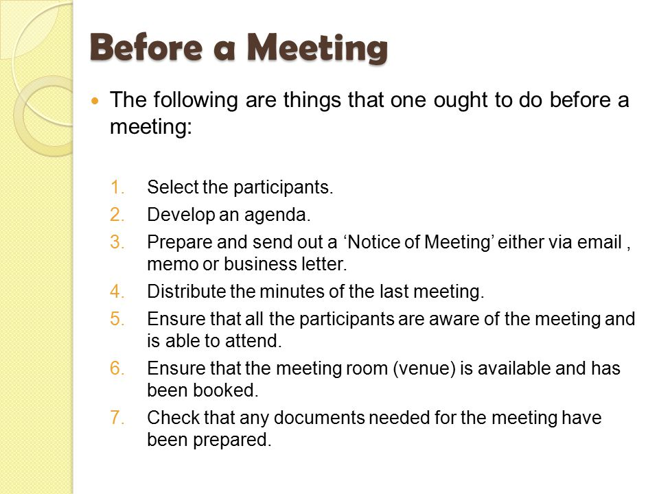 Meetings Before, During & After. - Ppt Video Online Download