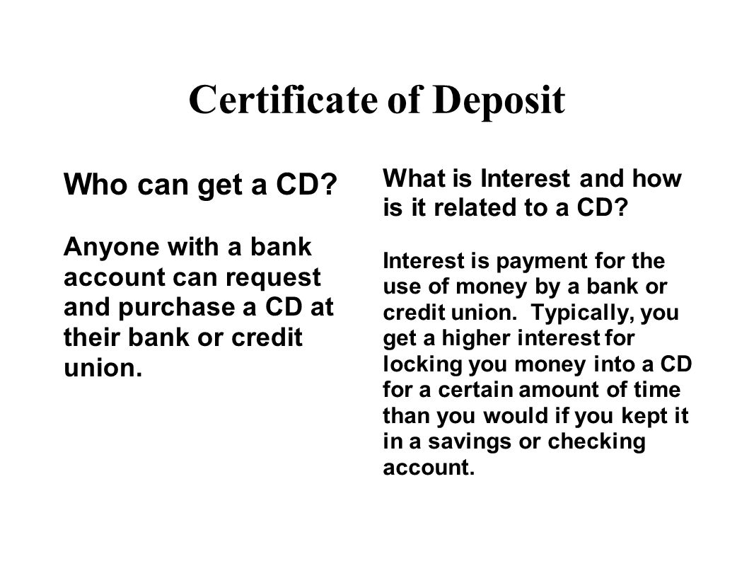Checking savings cds ppt download certificate of deposit xflitez Images