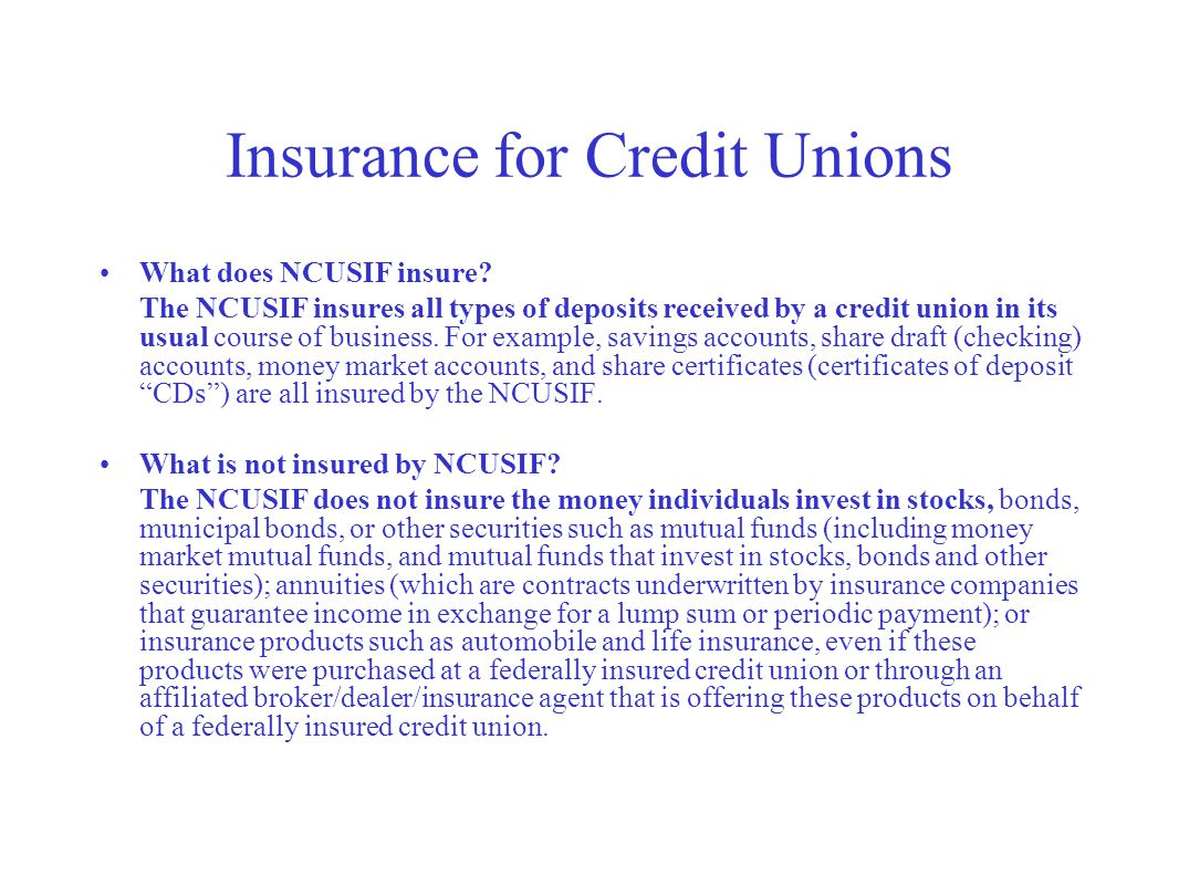 Checking savings cds ppt download 36 insurance for credit unions xflitez Image collections