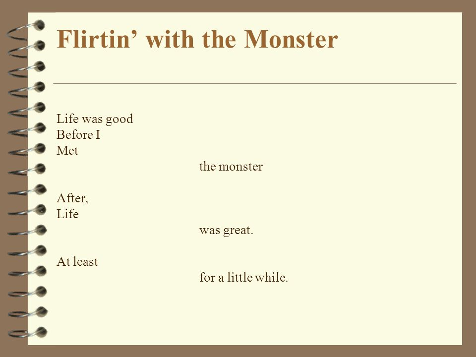 flirt in with the monster