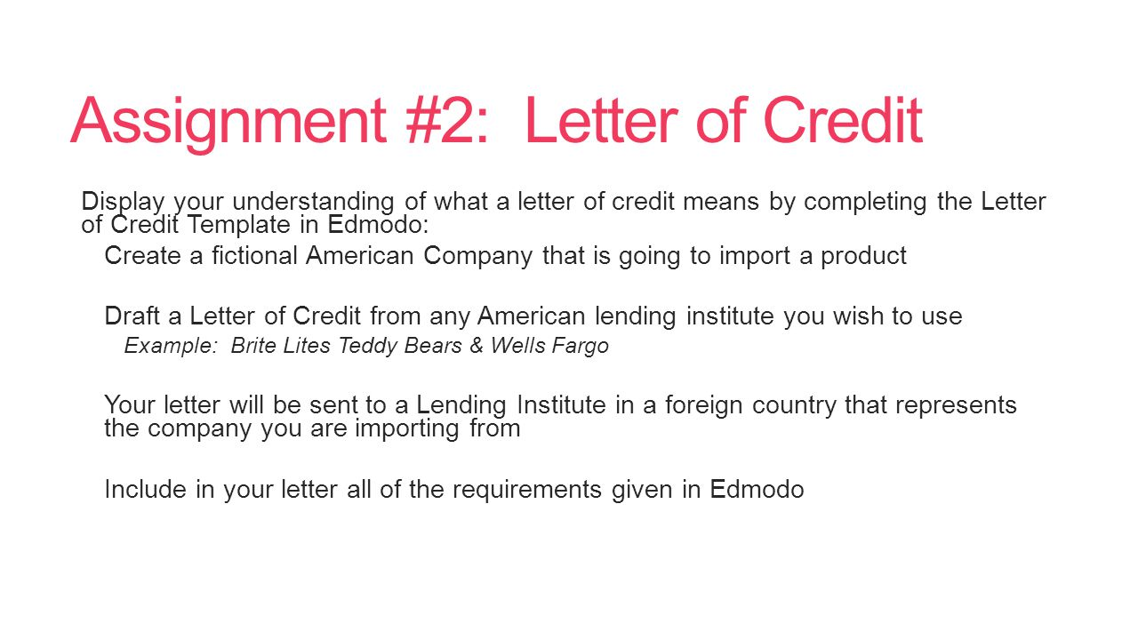 10 2 international pricing payments ppt video online for Letter of credit draft template