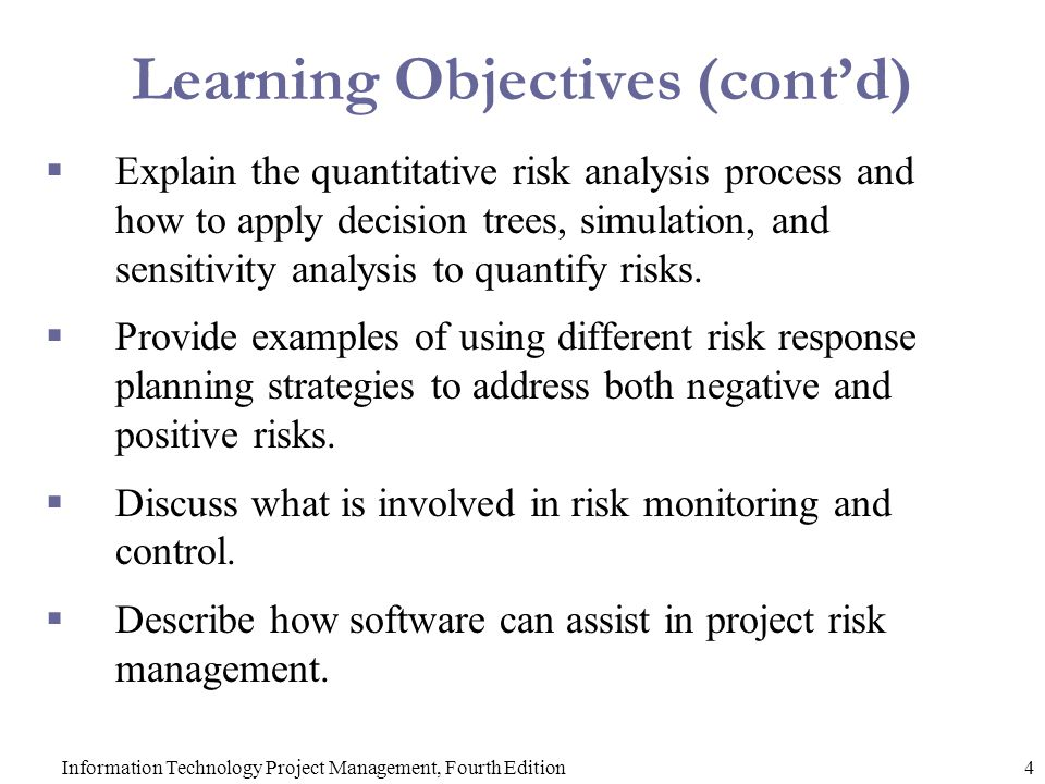 Chapter 11: Project Risk Management - Ppt Video Online Download