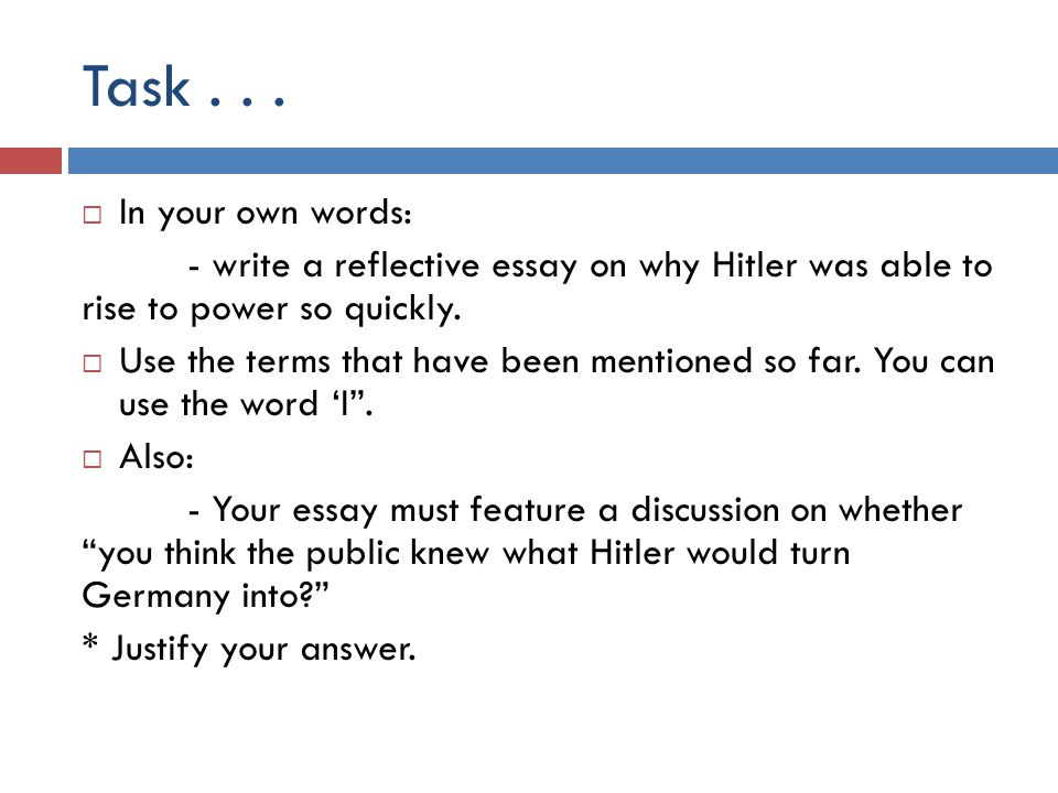rise of hitler essay questions