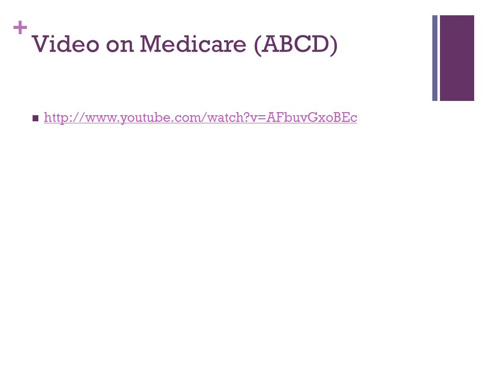 Video on Medicare (ABCD)