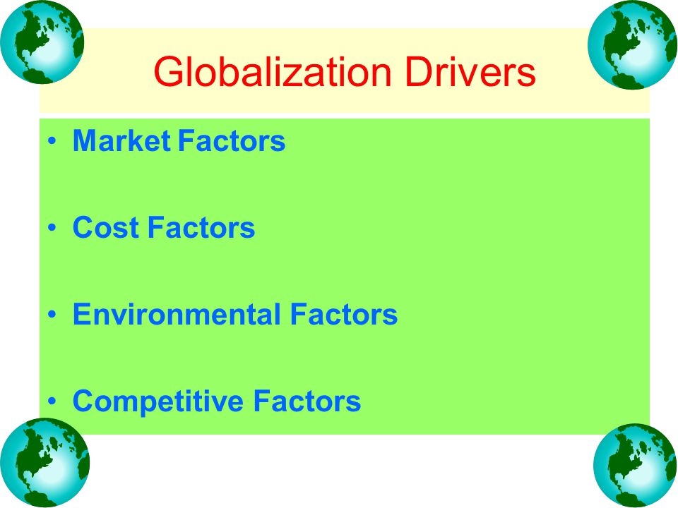 environmental factors for international marketing Controllable and uncontrollable factors of international marketing 1 by- gurleen kaur student of uiams, pu the uncontrollable and controllable factors.