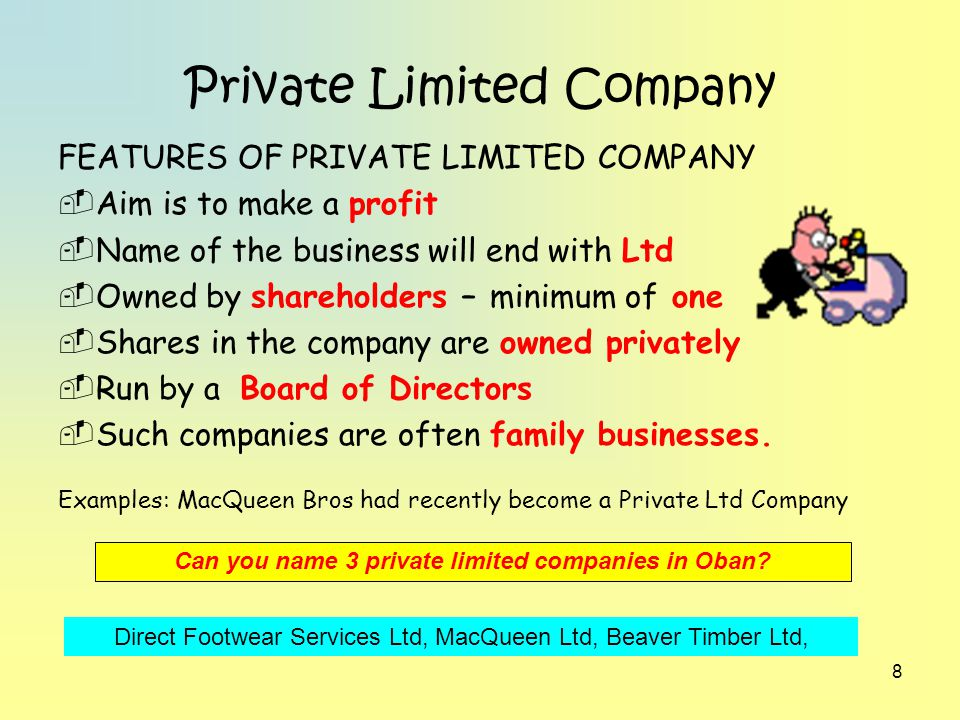 key features of limited companies It is crucial for businesses set up as private limited companies to comply with the requirements of the companies act 2006 this guidance note sets out the key legal.