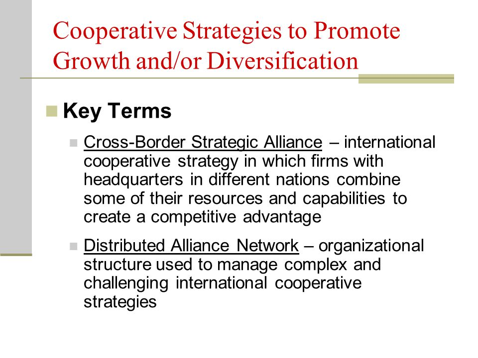 Co operative strategic