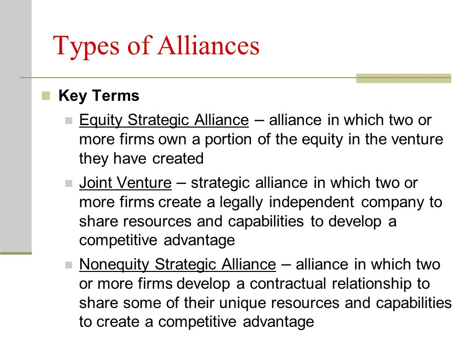 strategic alliances a competitive necessity Growing use of strategic alliances in the energy industry by jay g martin winstead sechrest & minick pc § 202 strategic alliances defined37 § 203 reasons for the proliferation of strategic necessity, but it has no legal.