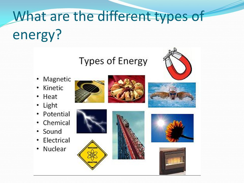 Types of energy poster board