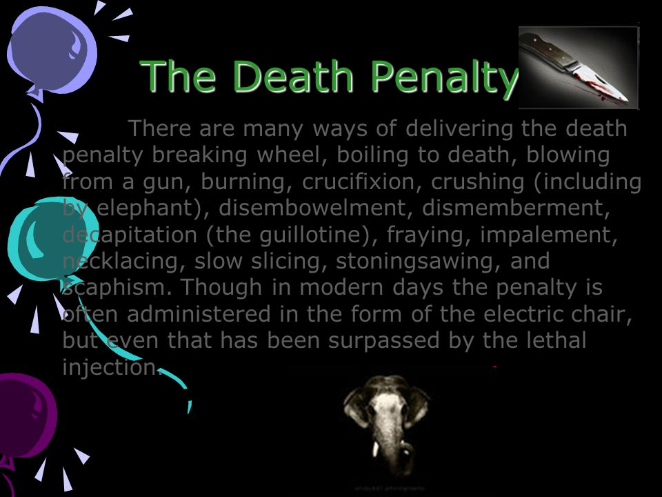 different ways to carry out the death penalty Here are five of the most interesting death penalty facts from in the world carried out the death penalty last being 195 by national geographic's.