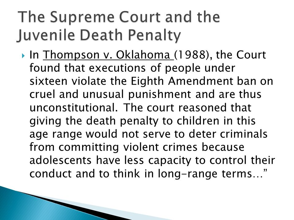 death penalty for children argumentative essay