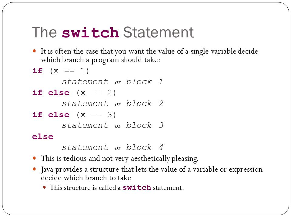 The switch statement decimalformat and introduction to - Switch case java ...