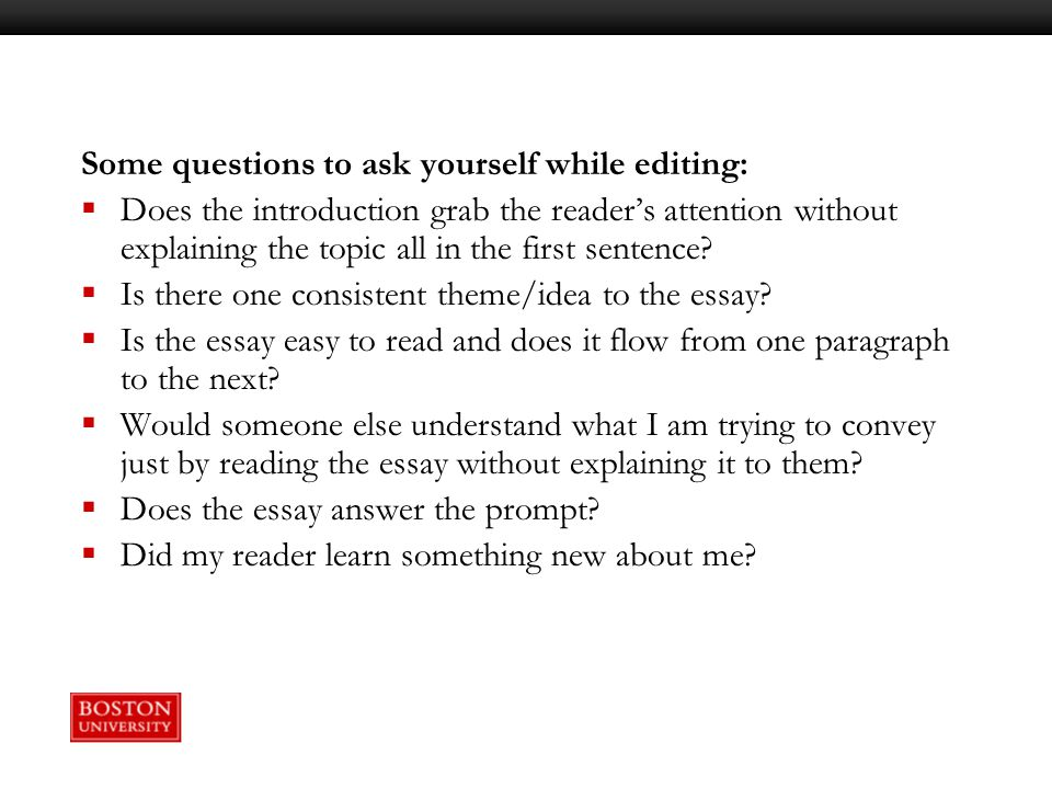 """questions to ask yourself when writing an essay about yourself """"the key to wisdom is knowing all the right questions"""" – john simone what questions do you ask yourself every day believe it or not, the kind of questions you ask determine the kind of life you lead."""