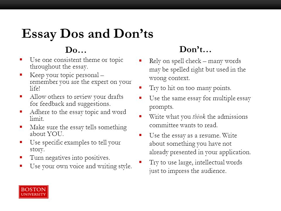 writing workshop constructing your college essay ppt video  11 essay dos and don ts