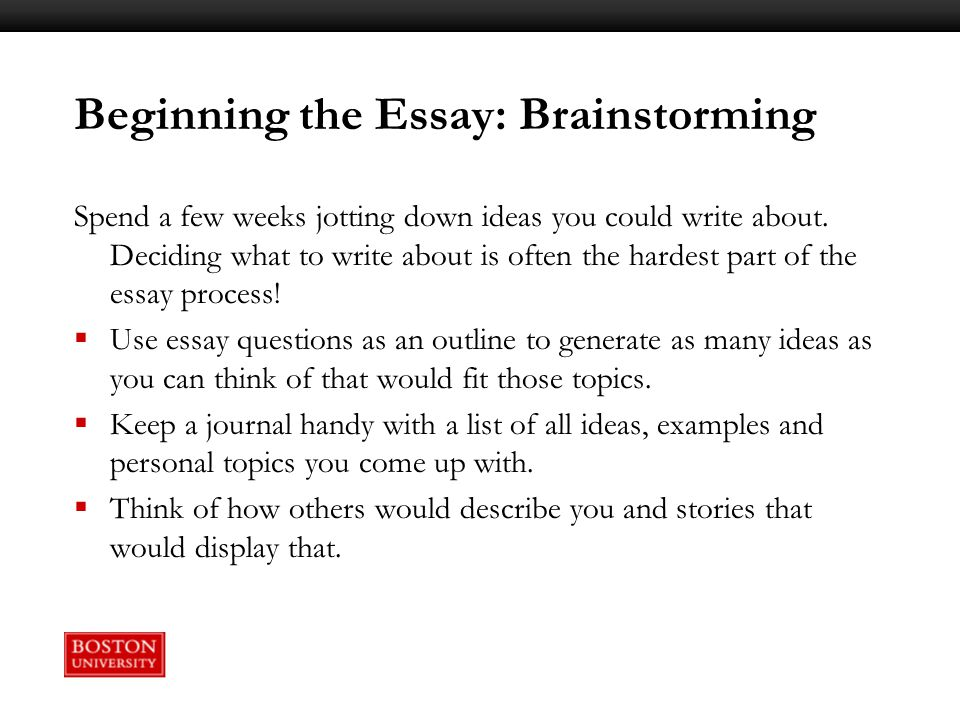 Fact: The hardest part of writing an essay is writing the introduction