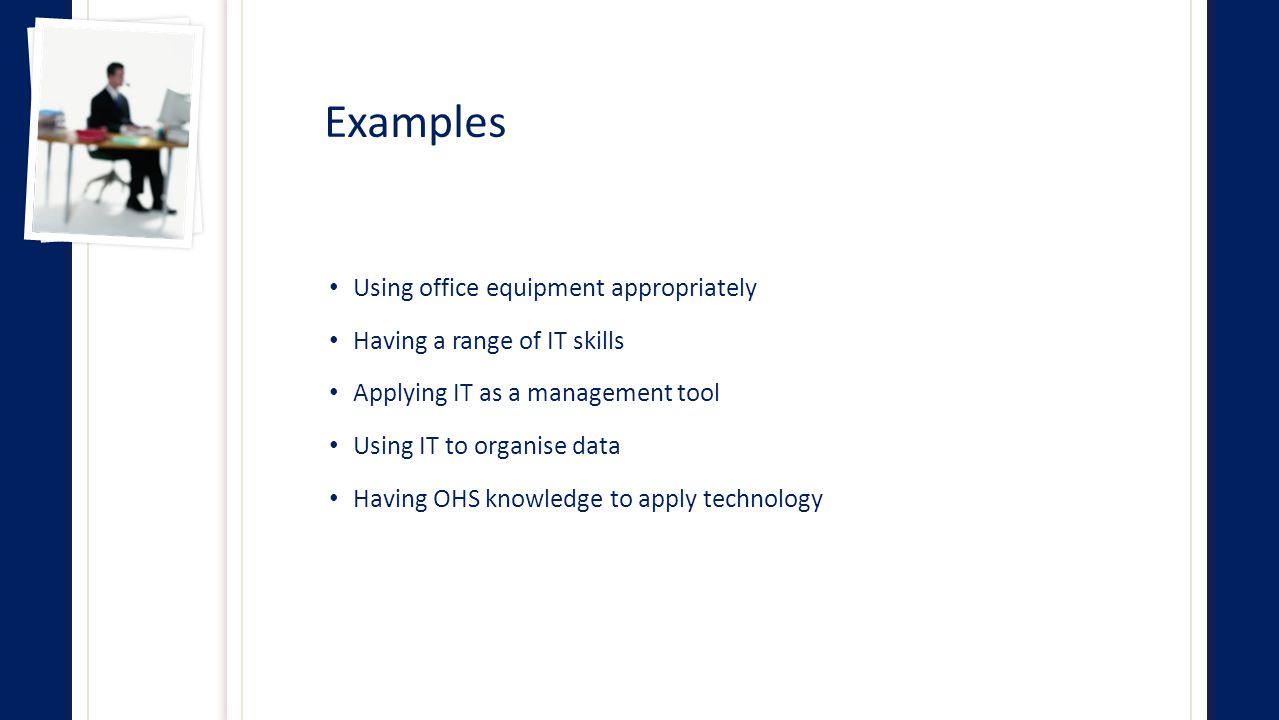examples of office equipment