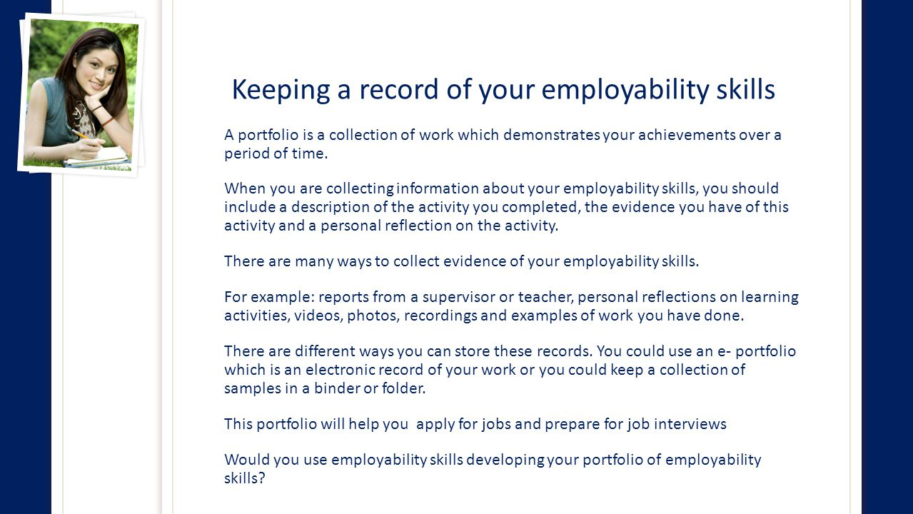 employability personal and communi skills report Access & intake services community options verifying a nurse aide's status through the employability status check search system is the report suspected waste.
