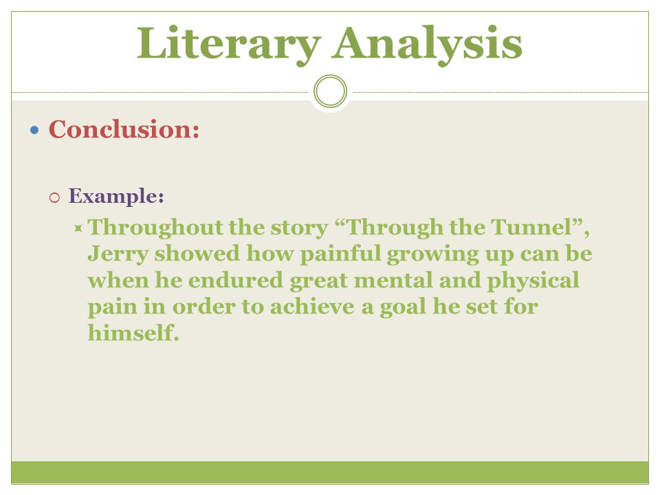 conclude literary analysis essay