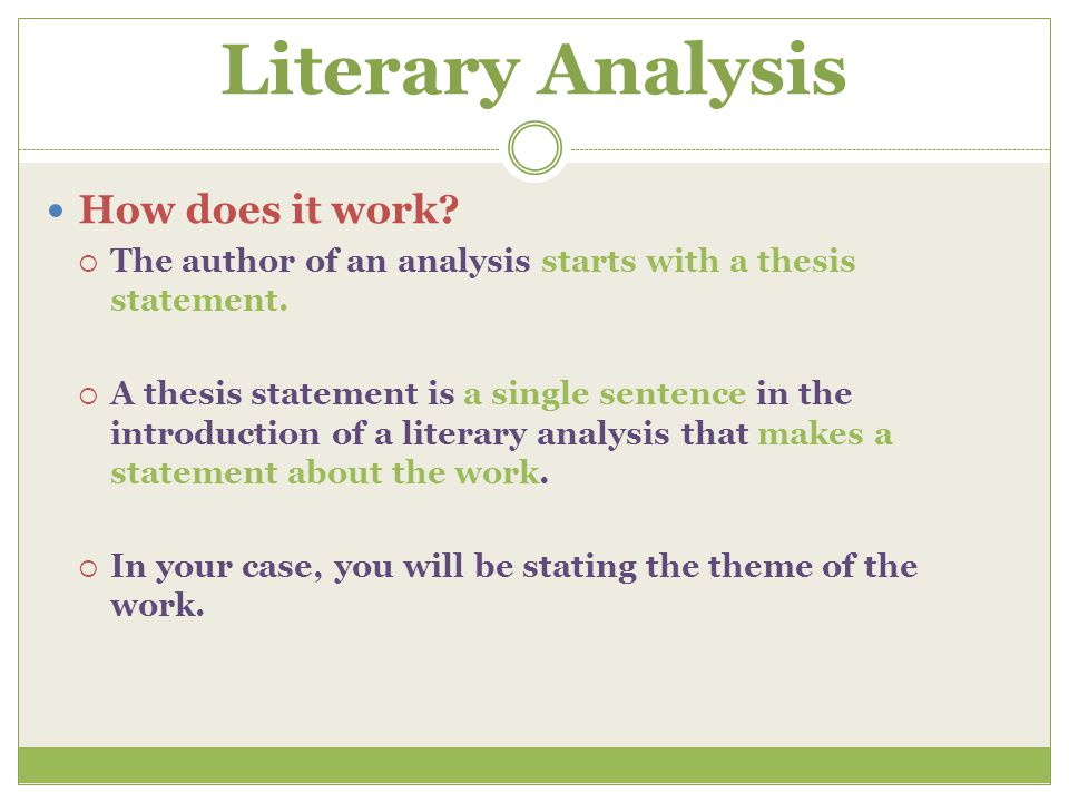 thesis statement for short story analysis Saved c: writing a critical analysis of a short story writing a critical analysis of a short story tutorial services – mission del paso campus to write an effective critical analysis, you must first be sure that you understand the question that  • provides a thesis statement.