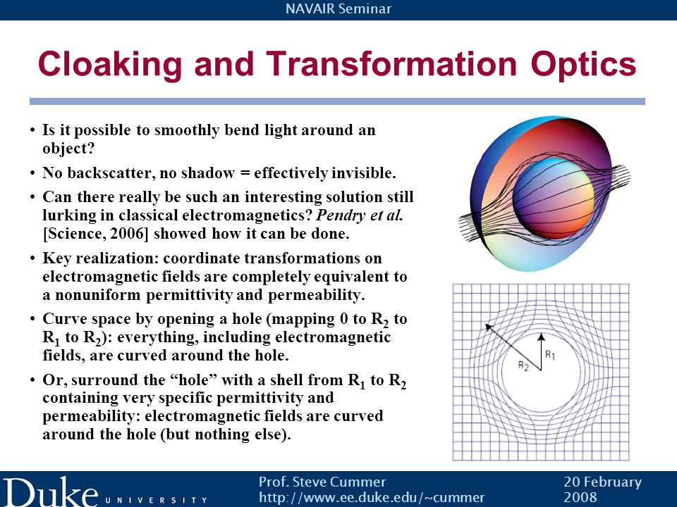 Cloaking and Transformation Optics