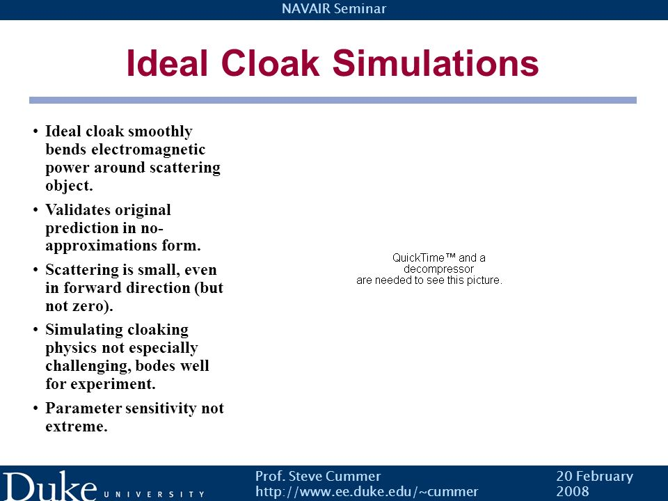 Ideal Cloak Simulations