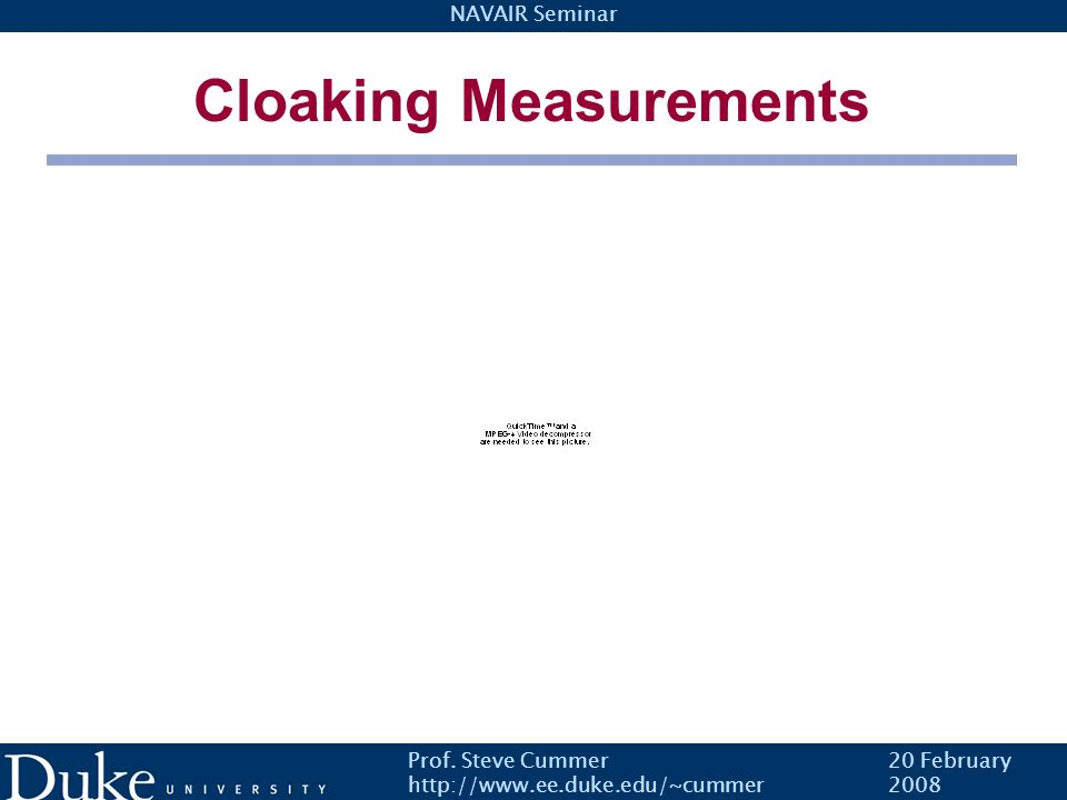 Cloaking Measurements