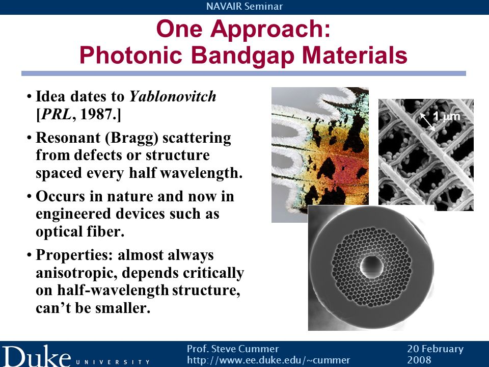 One Approach: Photonic Bandgap Materials