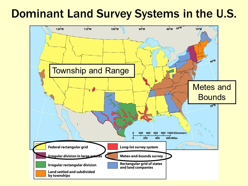 The agricultural landscape ppt video online download for Metes and bounds