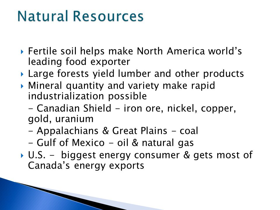 World geography united states canada notes ppt download for Natural resources soil uses