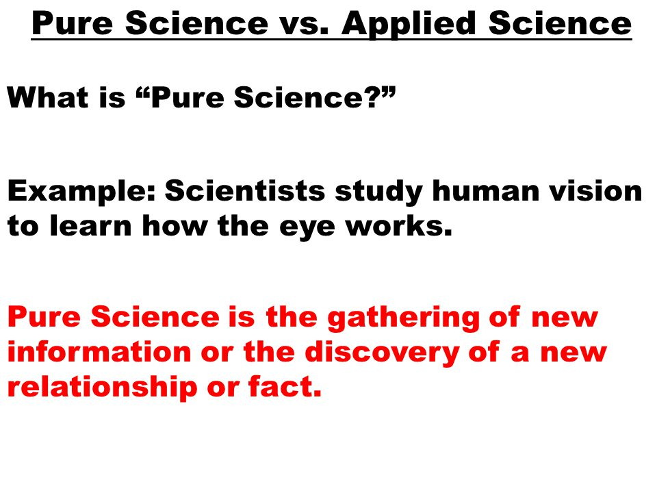 pure science meaning