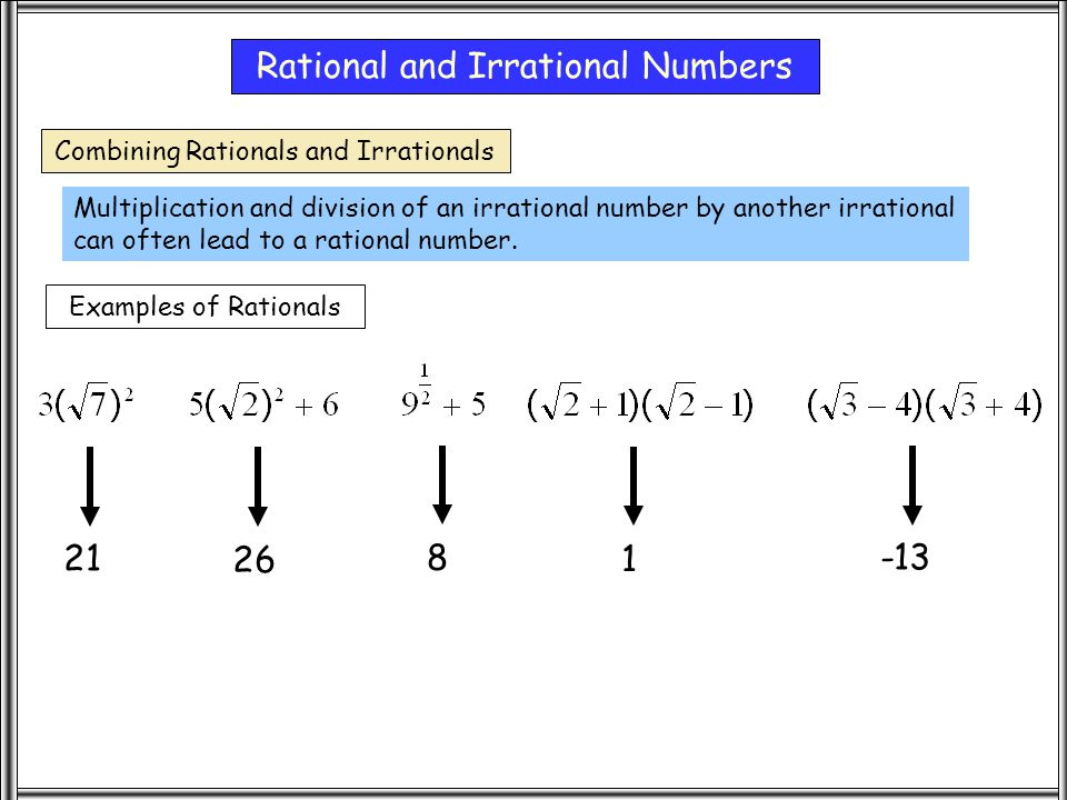 how to know if a number is rational or irrational