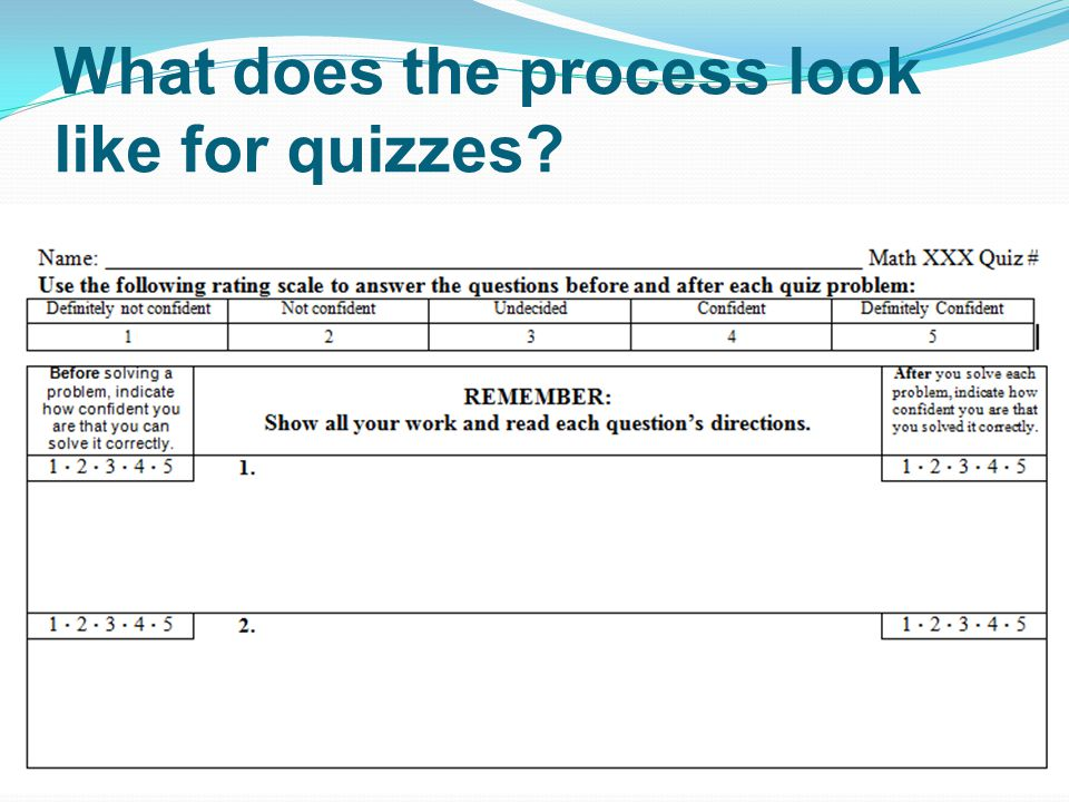 What does the process look like for quizzes
