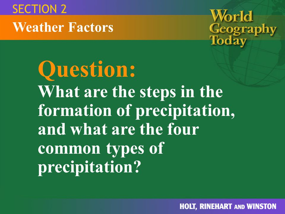 SECTION 2 Weather Factors.