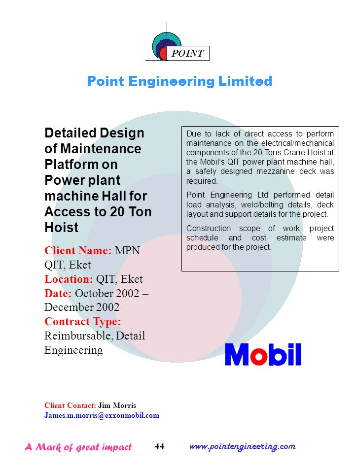 Corporate profile point engineering limited ppt download for Mezzanine cost estimate
