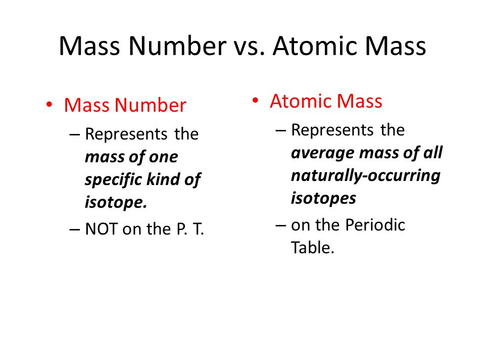 14 mass number vs atomic mass - Periodic Table With Atomic Mass And Isotopes