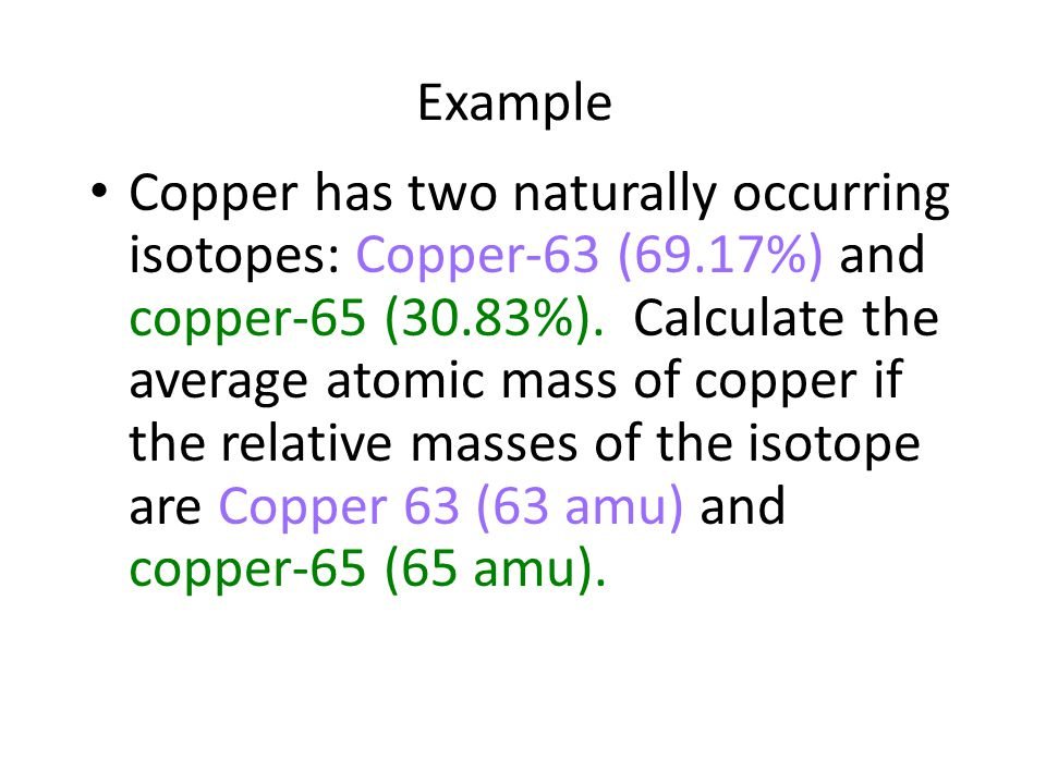 Isotopes average atomic mass ppt video online download example urtaz Gallery