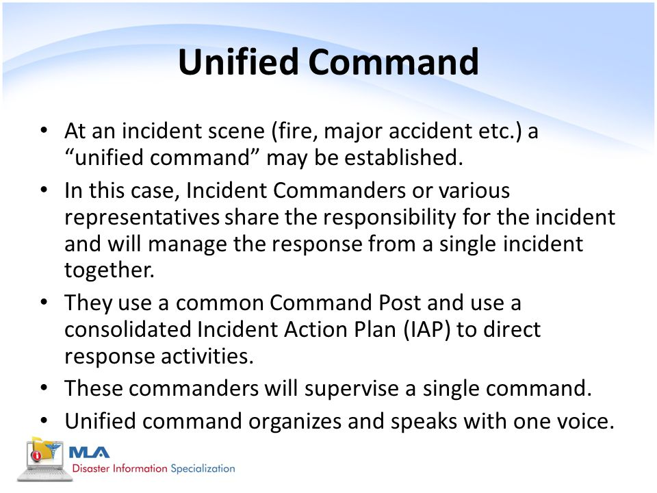 Incident Action Plan Who Does What Ics Summary Incident Commander