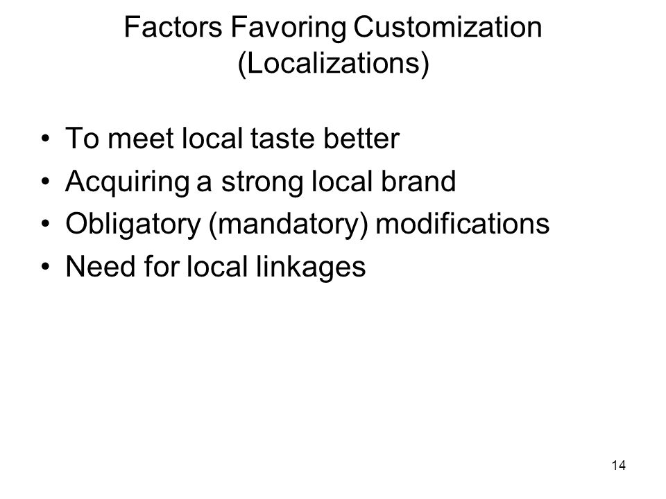 Standardization VS Customization in Global Marketing