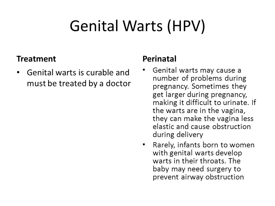how to get rid of genital warts when pregnant