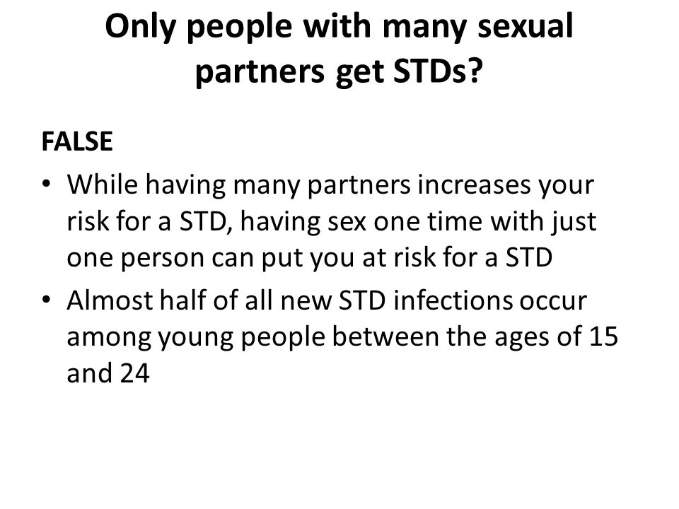 multiple sexual partners and young people