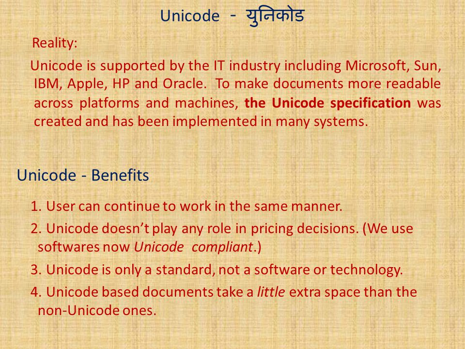 SUB : ICT STD X Unicode Chapter No ppt video online download